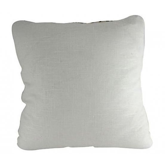 Image of Silk & Linen Embroidered Lattice Pillow