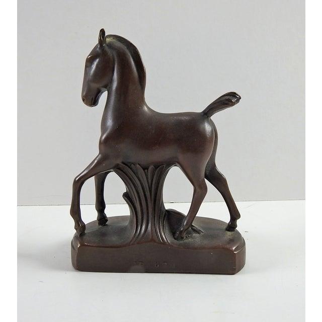Jennings Bros Art Deco Horse Bookend Chairish