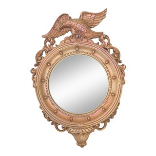 Gold Tone Vintage Federal Eagle Mirror