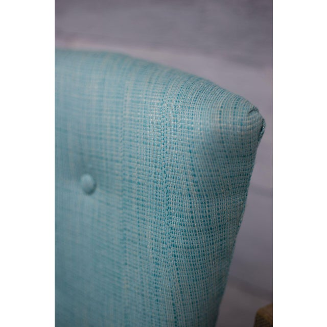 Aqua Tweed MCM Low Profile Slipper Chairs - Pair - Image 8 of 9