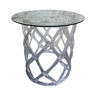 Tony Duquette Style Clear Lucite Ribbon Table