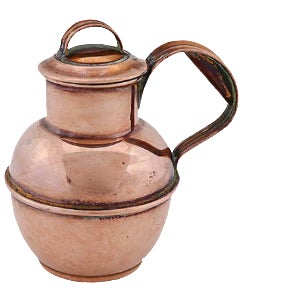 Antique Copper Guernsey Cream Jug