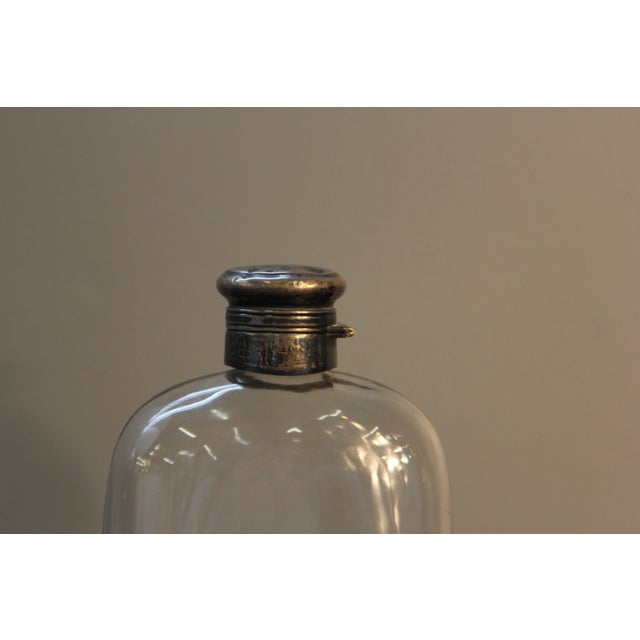 Antique Sterling Silver and Glass Pint Flask - Image 7 of 7