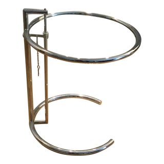 Eileen Grey Adjustable Chrome Table