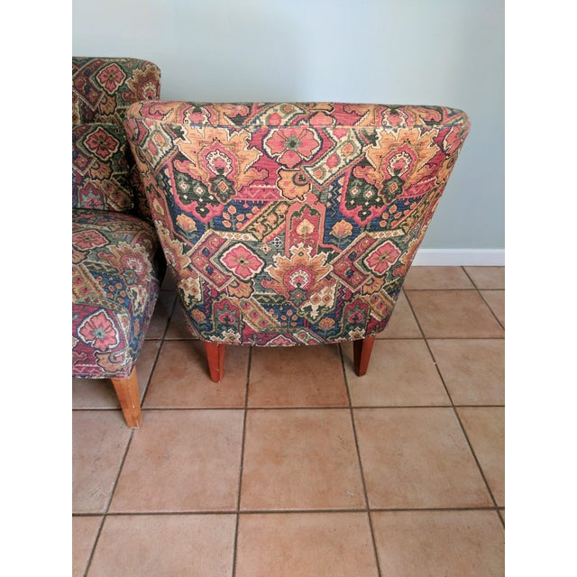 Drexel Heritage Vintage Slipper Chairs - A Pair - Image 4 of 5