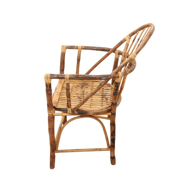 Windsor Style Bamboo Side Chair - Image 3 of 6