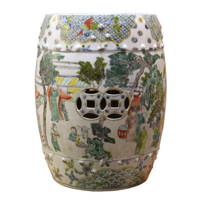 Chinese Porcelain Garden Stool with Scenery - Image 2 of 10