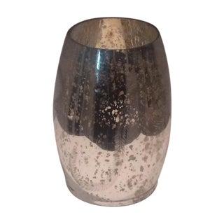 Modern Mercury Glass Hurricane Candle Holder