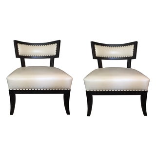 Ivory Karjala Lounge Chairs - A Pair