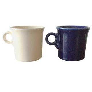 Contemporary Fiestaware Ring Handle Mugs - a Pair