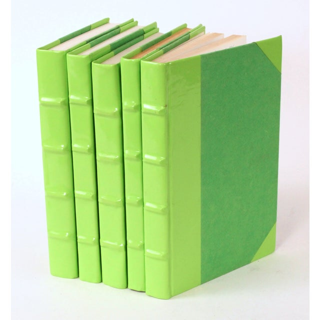 Image of Patent Leather Lime Green Books - Set of 5