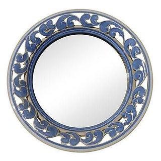Portugese Porcelain Cut Out Mirror