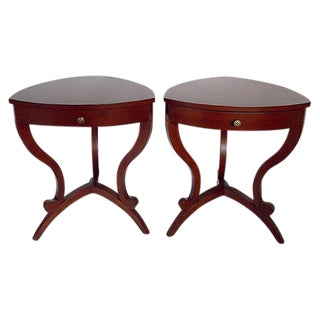 Modernist Cornered Side Tables - A Pair