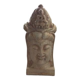 Ivory Majolica Quan Yin Buddha Head