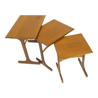 Danish Modern TeakNesting Tables by Gplan