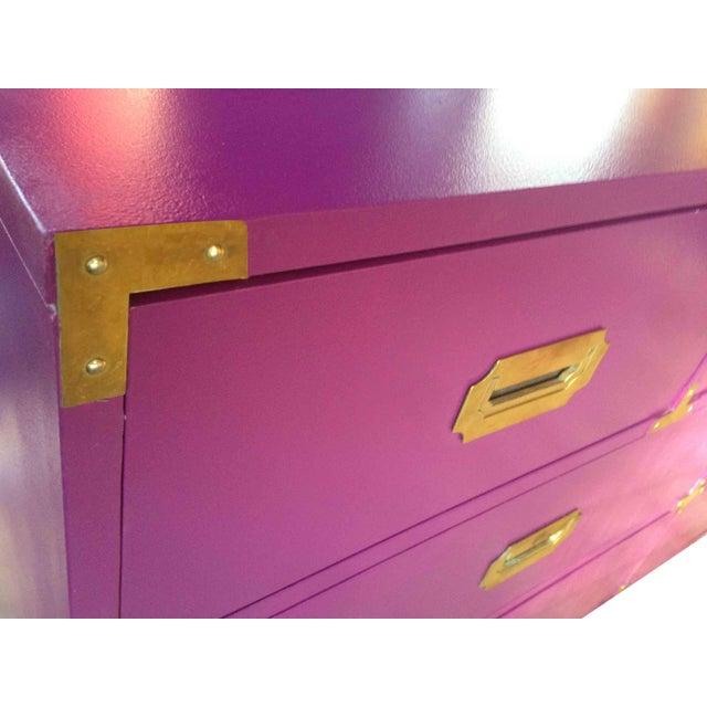Vintage Campaign Purple Chest - Image 8 of 10