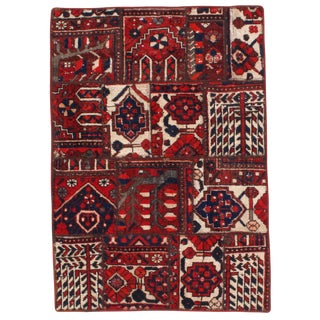 "Pasargad N Y Persian Patch-Work Area Rug - 2′10"" X 4′"