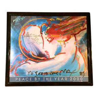 "1989 Peter Max ""Peace by the Year 2000"" Poster"