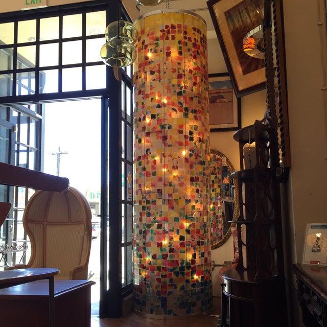 Weisman Glass Chandelier - Image 7 of 11