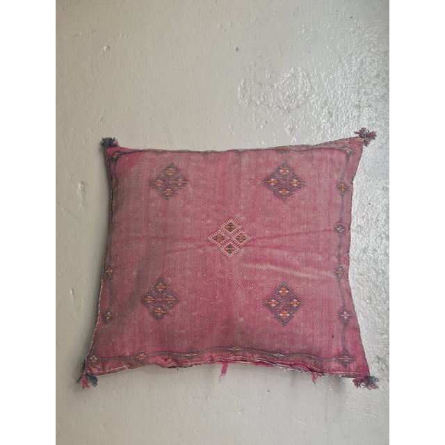 Pink Moroccan Stuffed Cactus Silk Pillow - Image 2 of 9