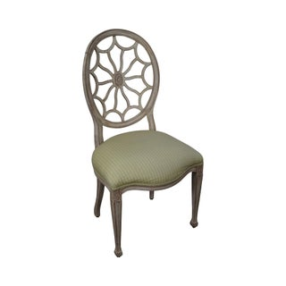 PAMA Painted Spider Back Regency Style Side Chair