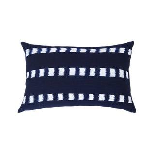 Guatemalan Striped Indigo Handwoven Pillow