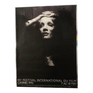 45th Cannes Film Festival Marlene Dietrich Poster