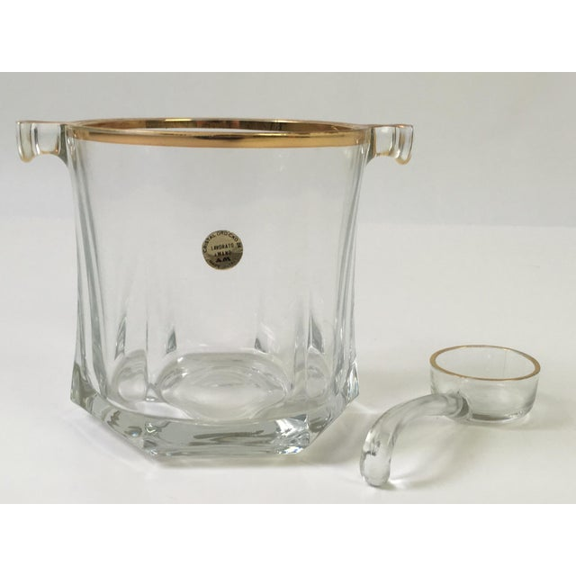 Vintage Mano Crystal Ice Bucket With Ice Scoop - Image 2 of 6