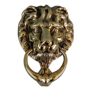 Solid Brass English Lion Door Knocker