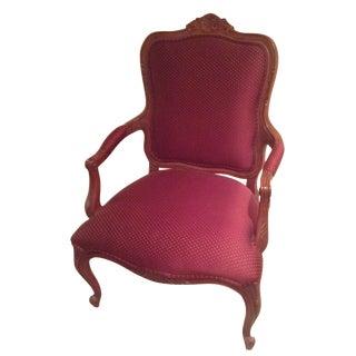 Ethan Allen Magenta Accent Chair