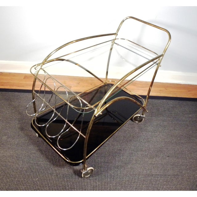 Vintage Deco Style Bar Cart - Image 4 of 8