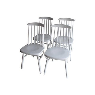 Ilmari Tapiovaara Style Birch Dining Chairs - S/4