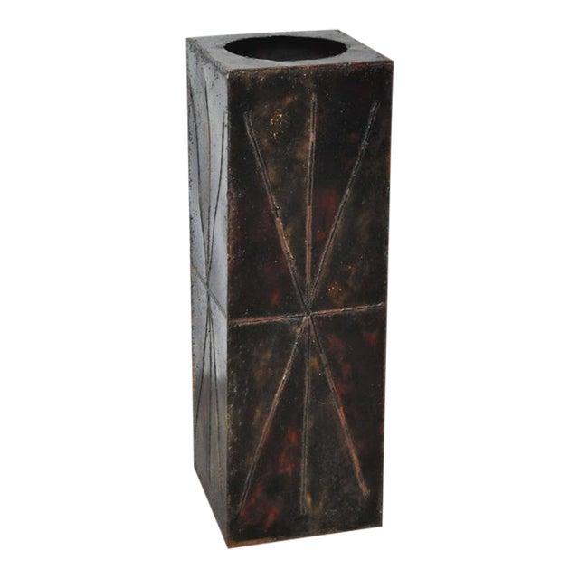 Paul Evans Sculptural Steel Planter Pedestal - Image 1 of 8