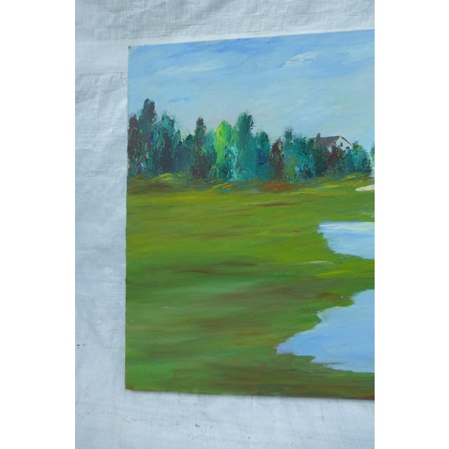 H.L. Musgrave MCM Painting of Flowing River - Image 3 of 6