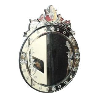 Round Decorative Modern Venetian Style Wall Mirror