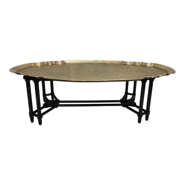 Baker Furniture Brass Tray Table - Image 1 of 10