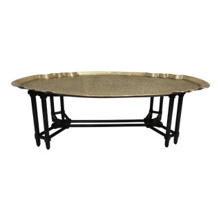 Baker Furniture Brass Tray Table