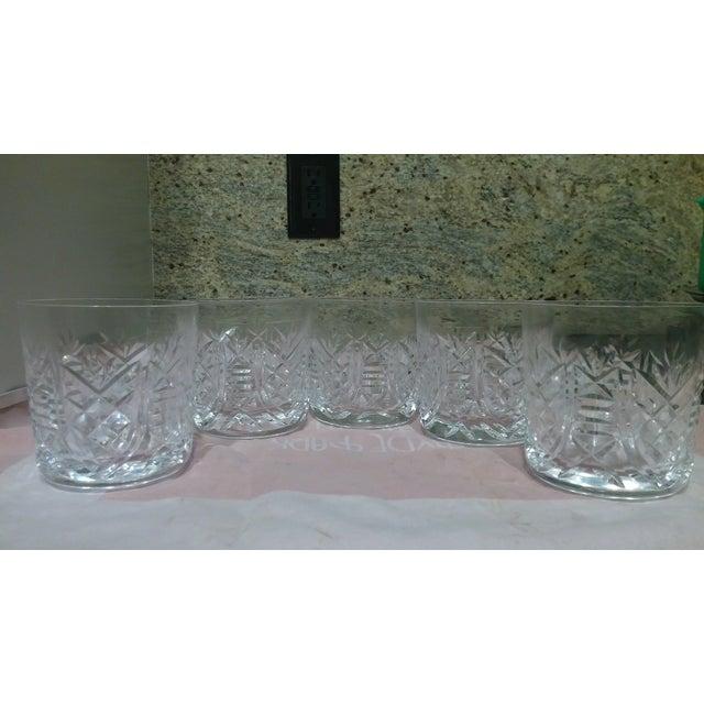 Vintage Etched Rocks Glasses - Set of 4 - Image 9 of 11