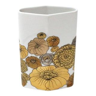 1970's Floral Porcelain Vase by Alain Le Foll