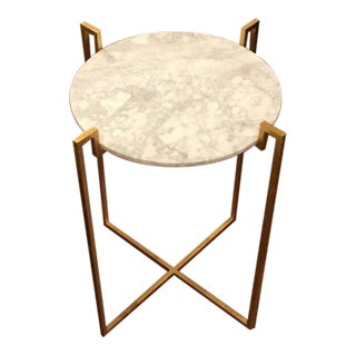 Worlds Away Abel Gold Side Table