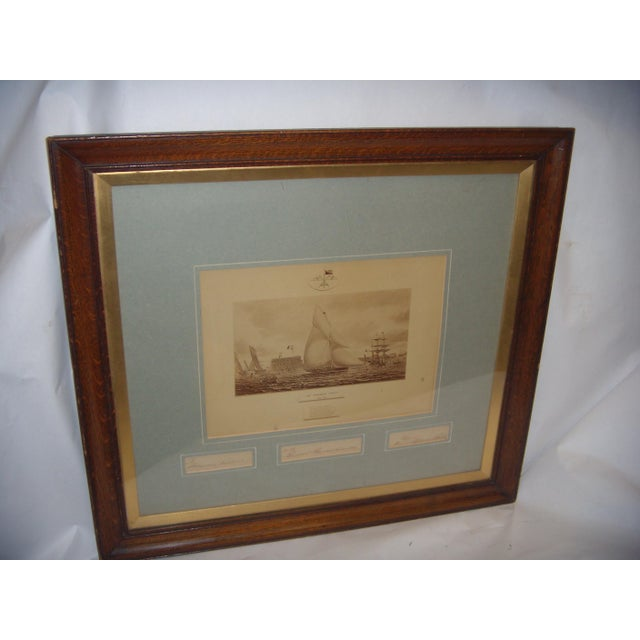 Framed Photo of The Terrible Fiona Yacht, 1899 - Image 5 of 11