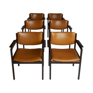 Danish Mid-Century Modern Rosewood Armchairs - Set of 6