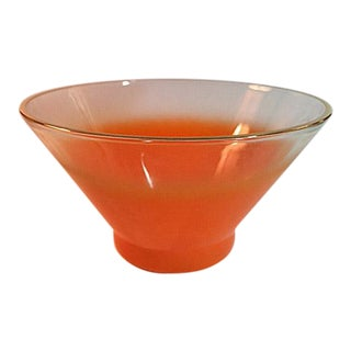 Mid-Century Orange Blendo Serving Bowl