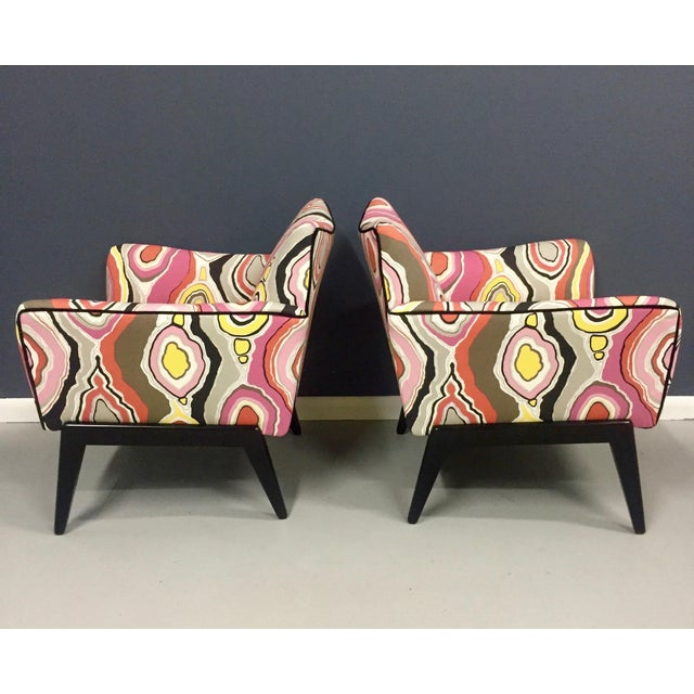 Italian Mid Century Lounge Chairs in the Style of Ico Parisi - a Pair - Image 8 of 9