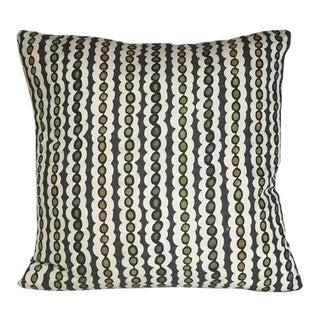 Kim Salmela Olive Stripe Pillow