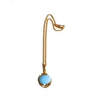 Jomaz Turquoise Lucite Necklace