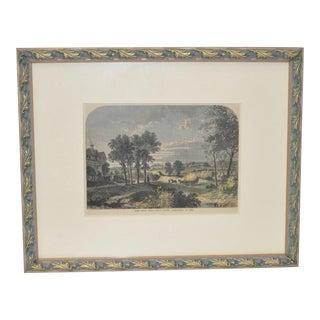 19th-Century Framed Engraving