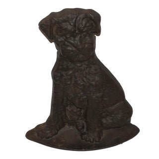 Monumental 19Thc Cast Iron Dog