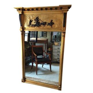 Vintage Gold Trumeau Mirror