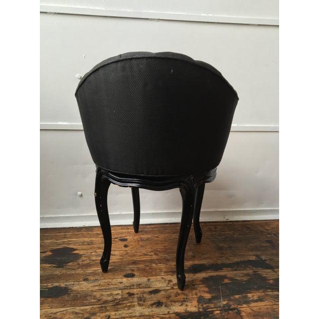 Noir Tufted Swiveling Vanity Chair - Image 5 of 6